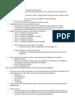 Notes Cystic Fibrosis