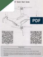 JJRC X7 Manual Ingles