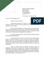 Lettre de Robert Frairet à Edouard Philippe