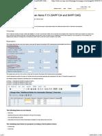 Automatic Clearing Open Item F.13 SAPF124-SAPF124E FI SAP