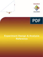 Experiment Design & Analysis Reference