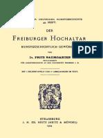 1904-Der Freiburger Hochaltar (F. Baumgartner)