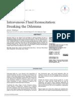 Intravenous Fluid Resuscitation
