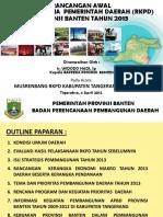 Paparan Rancangan RKPD Provinsi Banten pada Musrenbang Kabupaten Tangerang~0