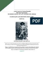 Moorish School of Law and History  Manual 2016