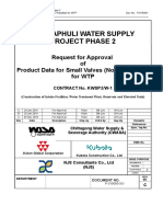Request for Approval on Product Data of Small Valves and Fittings