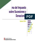 Impuesto Sucesiones y Donaciones -GenCat- 100407