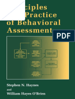 Stephen N. Haynes, William Hayes O'Brien - Principles and Practice of Behavioral Assessment (Applied Clinical Psychology) (1999).pdf