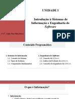 Aula II_Introdução à Sistemas de Informação e Engenharia de Software