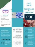 Folleto App Alumnado y Familias