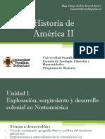 Unidad 1 Exploración, surgimiento y desarrollo Colonial en Norteamérica - Historia de América II