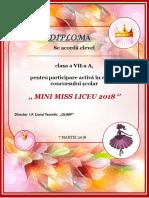 Diploma Mini Miss