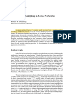 Sampling in social networks