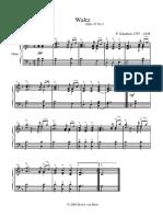 Waltz Op 33 No 2 Schubert