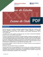 Plano de Estudos p XXVII EOAB