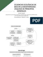 LAS CONSECUENCIAS ECOLÓGICAS DE LOS CAMBIOS EN LA BIODIVERSIDAD