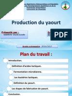 production de yaourt