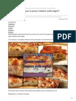 Pizza - Consigli Bonci