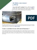 Robô Seguidor de Linha Com Sensor Infravermelho e PWM