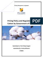 Pricing Policy of Cotton