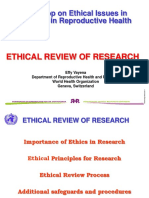 Need for Ethical Review