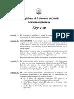 Ley Provincial 9360