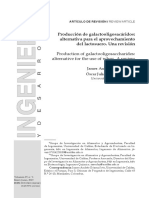Production of Galactooligosaccharides. a Review