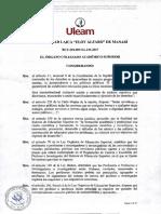 Uleam019 Reglamento Reformatorio y Sustitutivo de Concurso Mérito y Oposición Con La Derogación