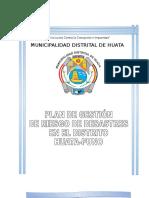 plan de gestión de riesgo de desastres de la municipalidad distrital de Huata