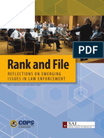 Rank and File Reflections on Emerging Issues in Law Enforcement
