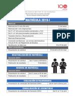 Matricula 2019 - I