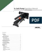 Hydraulic Pressure Comparator Pump p014 Manual Us