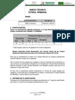 Primaria FUTBOL Reglamento