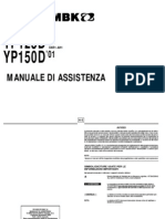 Yamaha MBK YP125 150 Majesty Skyliner 2001 Service Manual