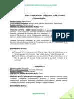 Cuerpo Del Estudio Etnobotanico Medico