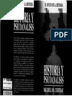 Michel de Certeau Historia y Psicoanalisis