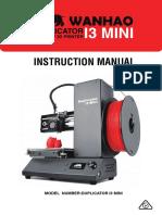 Wanhao Mini Manual Rev1