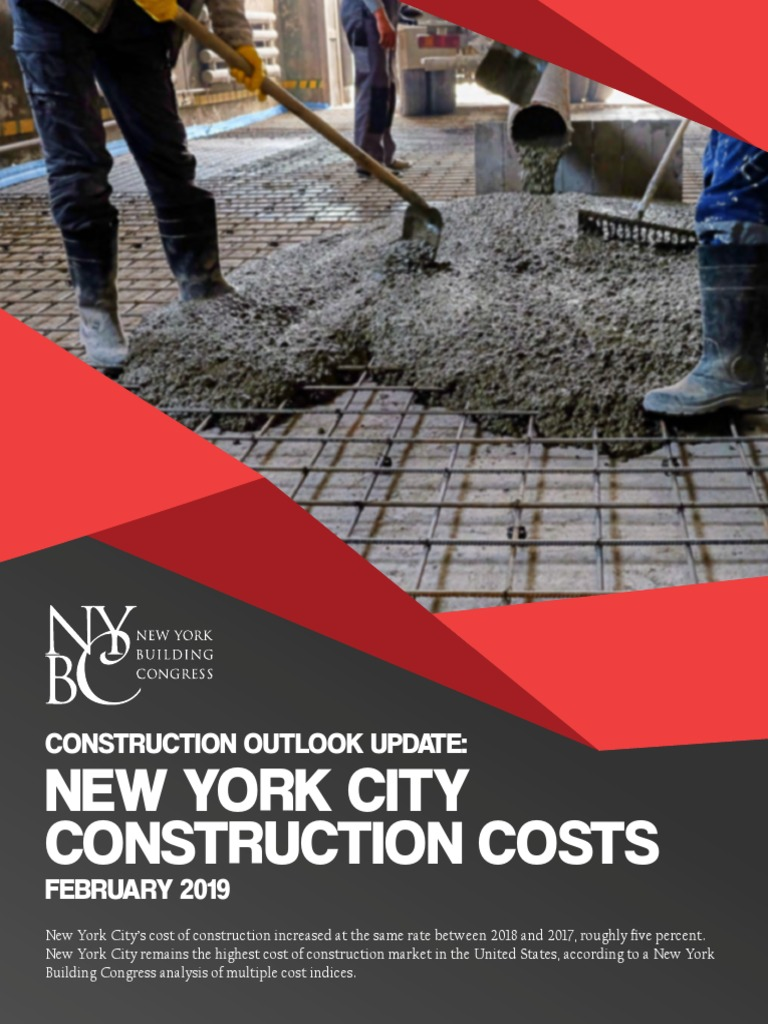 NYC Construction Costs | Index (Economics) | New York City