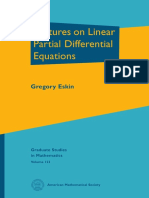 (Graduate Studies in Mathematics 123) Gregory Eskin-Lectures on Linear Partial Differential Equations-American Mathematical Society (2011)