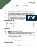 Procedure - Risk & OOpportunity Management
