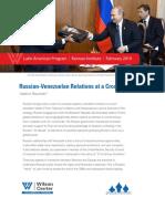Russian-Venezuelan Relations at a Crossroads