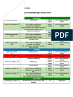 2018 19 Education Meeting Calendar