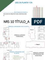 Irregularidades en Planta & Alturas Proyecto Multifamiliar_1
