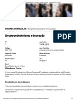 Empreendedorismo e Inovação - Universidade de Coimbra