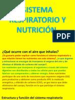 Sistema Respiratorio y Nutrición