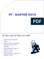 PP MasterData Presentation