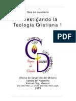 Investigando la Teología Cristiana 1