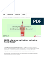 EPIRB - Emergency Position Indicating Radio Beacon Working
