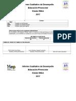 Informe Cualititivo de Desempeño Febrero y Marzo 2017 Kinder Rm-A