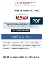 Sesión Informativa TFM 2018-2019